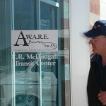 Dad at AWARE's C.R. McDougall Transit Center