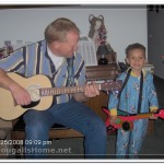 """Bruce and J.J. playing their guitars during our """"Substitute Camp Out"""""""