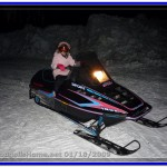 Did Alia really drive the snowmobile alone???