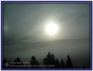 Fog near Jefferson City, Montana
