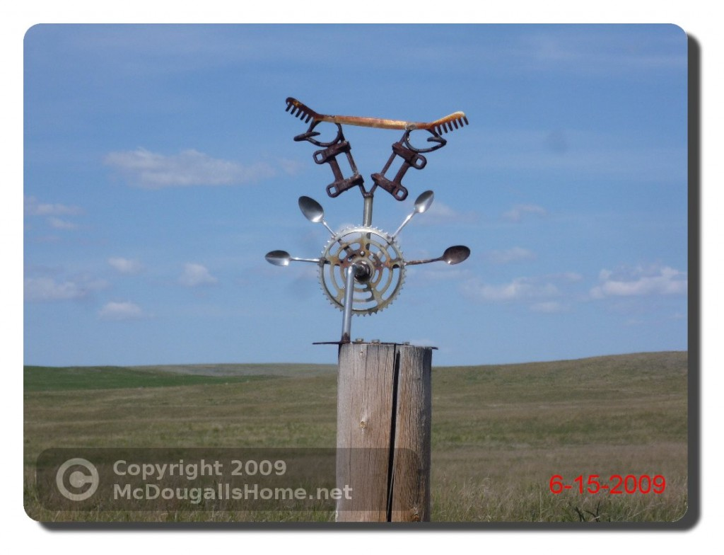 This type of art can be found on fenceposts around Montana.