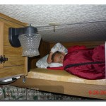 "J.J. in the ""upper"" bunk."