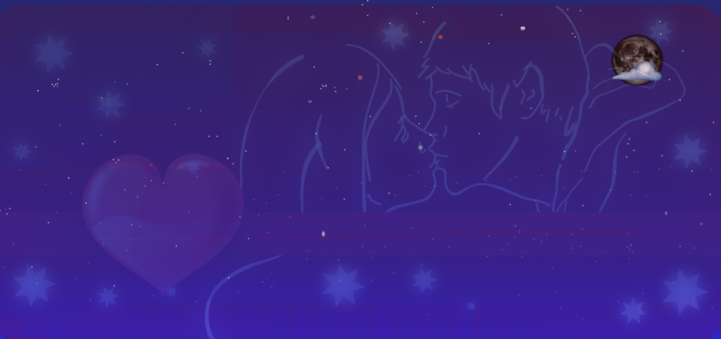 On a very starry night, love was in the air!