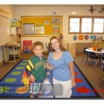 J.J. and his kindergarten teacher.