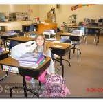 Alia in her fourth grade class room.